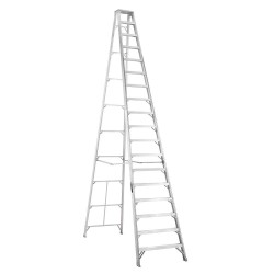 Louisville Ladder - AS1018 - 18 ft. 300 lb. Load Capacity Aluminum Stepladder