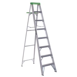 "Louisville Ladder - AS4008 - Louisville Ladders 8' Step Ladder - 7 Step - 225 lb Load Capacity - 96"" - Aluminum"