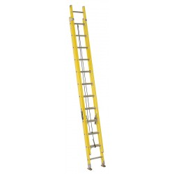 Louisville Ladder - FE1724 - Extension Ladder, Fiberglass, I ANSI Type, 12 ft. Ladder Height