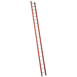 "Louisville Ladder - FE3120 - Fiberglass Straight Ladder, 20 ft. Ladder Height, 17"" Overall Width, 300 lb. Load Capacity"