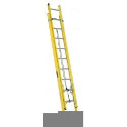 Louisville Ladder - FE4220HD - Extension Ladder, Fiberglass, IAA ANSI Type, 10 ft. Ladder Height