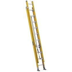 Louisville Ladder - FE4620HD - Extension Ladder, Fiberglass, IAA ANSI Type, 10 ft. Ladder Height
