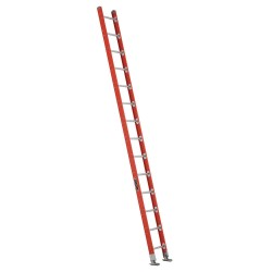 Louisville Ladder - FE7514 - Fiberglass Plate Connect Straight Ladder, 14 ft. Ladder Height, 17-3/8 Overall Width