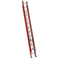 Louisville Ladder - FE7624 - Plate Connect Extension Ladder, Fiberglass, IA ANSI Type, 12 ft. Ladder Height