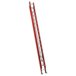 "Louisville Ladder - FE7632 - Plate Connect Extension Ladder, Fiberglass, IA ANSI Type, 16 ft. 4"" Ladder Height"