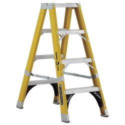 Louisville Ladder - FM1104HD - 4 ft. 375 lb. Load Capacity Fiberglass Twin Stepladder