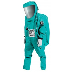Ansell-Edmont - 66-802 - Level A Rear-Entry Encapsulated Training Suit, Green, Size S, PVC Coated Fabric