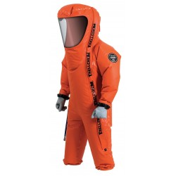 Ansell-Edmont - 66-501 - Level C Rear-Entry Encapsulated Suit, Orange, Size S, Polyamid Coated Fabric with PVC on Both Sides
