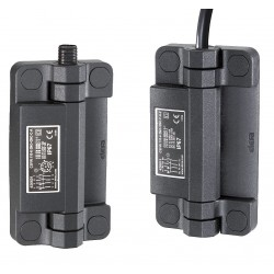 Elesa - CFSW.110-6-1NO+3NC-F-C-2 - Hinged Safety Interlock Switch, 1NO/3NC Contact Form, Bottom Output Port Location