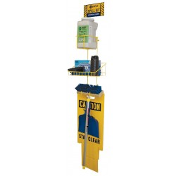 Enpac - 13-ESS - Spill Kit/Station, Wall Mounted Rack, Chemical, Hazmat, 1 gal.
