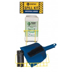 Enpac - 13-ESSD - Spill Kit/Station, Wall Mounted Rack, Chemical, Hazmat, 1 gal.