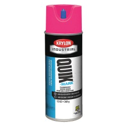 Krylon - A03405004 - Water-Base Marking Paint, Fluorescent Pink, 16 oz.
