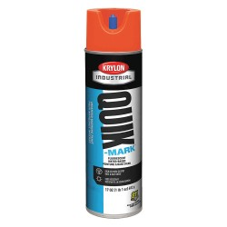 Krylon - A03650004 - Water-Base Marking Paint, Fluorescent Red/Orange, 20 oz.