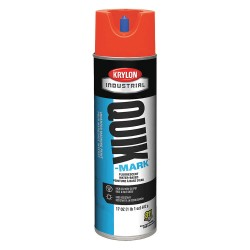 Krylon - A03610004 - Water-Base Marking Paint, Fluorescent Safety Red, 20 oz.