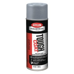Krylon - A00324 - Tough Coat Rust Preventative Spray Paint in Gloss High Heat Aluminum for Metal, Steel, 12 oz.