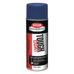 Krylon - A01515 - Tough Coat Rust Preventative Spray Paint in Gloss Dark Blue for Metal, Steel, 12 oz.