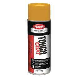 Krylon - A01009 - Tough Coat Rust Preventative Spray Paint in Gloss Yellow for Metal, Steel, 12 oz.