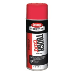 Krylon - A01812 - Tough Coat Rust Preventative Spray Paint in Gloss Fluorescent Red for Metal, Steel, 11 oz.