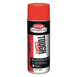 Krylon - A01212 - Tough Coat Rust Preventative Spray Paint in Gloss Implement Orange for Metal, Steel, 12 oz.