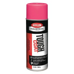 Krylon - A01150 - Tough Coat Rust Preventative Spray Paint in Gloss Zinger Pink for Metal, Steel, 12 oz.