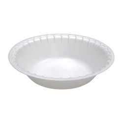 Pactiv - YTH100300000 - 30 oz. Disposable Polystyrene Bowl, White; PK450