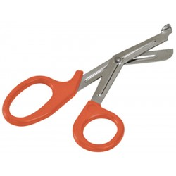 DMI / Briggs Healthcare - 27-755-050 - Orange Medical Shears, Serrated Blade End Style, Hardened Stainless Steel Blade Material, 5/16 Leng