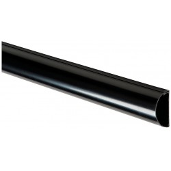 D-Line - US/5FT5025B/GR - 5 ft. Half Round, TV Drop Series Raceway, PVC, Black, Cover Type: Latching