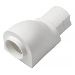 D-Line - US/CA3015W/5/GR - ABS Circular Adapter For Use With D-Line Raceway, White