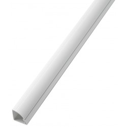 D-Line - US/R2D22QSW/GR - 6 ft. 6 in. Quarter Round Series Raceway, PVC, White, Cover Type: Latching
