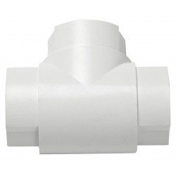 D-Line - US/ET6030W/5/GR - ABS Equal Tee For Use With LDPH Raceway, White