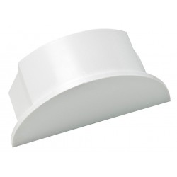 D-Line - US/EC6030W/5/GR - ABS End Cap For Use With LDPH Raceway, White