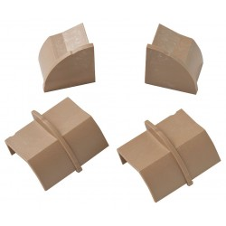 D-Line - US/CPECAP22QSP/GR - ABS Stainable Coupler and End Cap For Use With LDPH Raceway, Brown