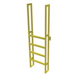 Tri Arc - UAP0590 - Fixed Ladder, 7 ft. 4-5/8 in. H, 750 lb.