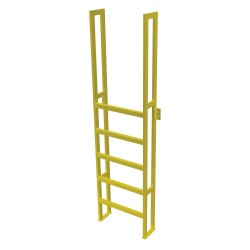 Tri Arc - UAP0690 - Fixed Ladder, 8 ft. 2-5/8 in. H, 750 lb.