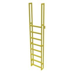 Tri Arc - UAP0990 - Fixed Ladder, 10 ft. 8-5/8 in. H, 750 lb.