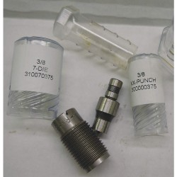 Roper Whitney - 200000375 - Knockout Punch and Die Kit, 3/8In, 31Ga.