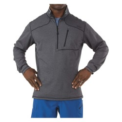 5.11 Tactical - 72045 - Half Zip Fleece, L Fits Chest Size 42 to 44, Black Color