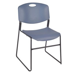 Regency Furniture - 4400BE - Black Steel Stacking Chair with Blue Seat Color, 4PK