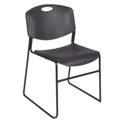 Regency Furniture - 4400BK - Black Steel Stacking Chair with Black Seat Color, 4PK