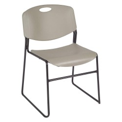 Regency Furniture - 4400GY - Black Steel Stacking Chair with Gray Seat Color, 4PK