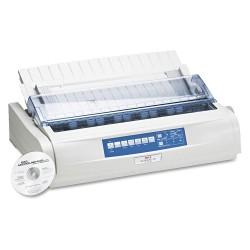 Okidata - OKI62419001 - Dot Matrix Printer, Blk/Wht, 27-1/4inH