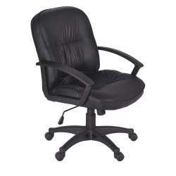 Regency Furniture - 3320 - Black Vinyl Desk Chair 21 Back Height, Arm Style: Fixed