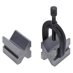 Brown & Sharpe Precision - 599-749 - 44532 Pair V Blocks & 1clamp Kit