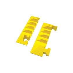Yellow Jacket / Ritchie Engineering - BB4EB-300GM-Y - Drop Over 4-Channel Cable Protector End Cap, Yellow, 8-13/32