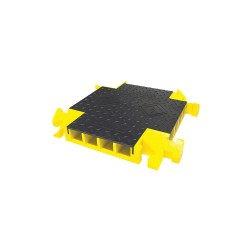 Yellow Jacket / Ritchie Engineering - BB4X-300GM-B/Y - Drop Over 4-Channel Cable Protector 4-Way Cross, Black, Yellow, 24