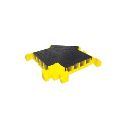 Yellow Jacket / Ritchie Engineering - BB4Y-300GM-B/Y - Drop Over 4-Channel Cable Protector 3-Way Cross, Black, Yellow, 24