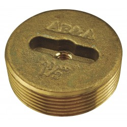 AB&A - 60360 - Brass Cleanout Plug For Use With Drain Access