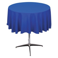 Phoenix Textile Industries - PL72R-BL - Round Polyester Tablecloth, Royal Blue; PK1