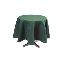 Phoenix Textile Industries - PL72R-FO - Round Polyester Tablecloth, Forest Green; PK1