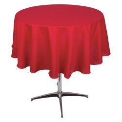 Phoenix Textile Industries - PL72R-RD - Round Polyester Tablecloth, Red; PK1